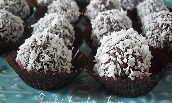 Tartufini di cioccolato e cocco