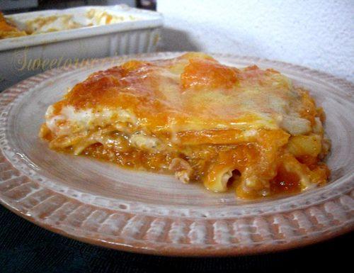 Lasagne cremose alla zucca con gorgonzola e noci