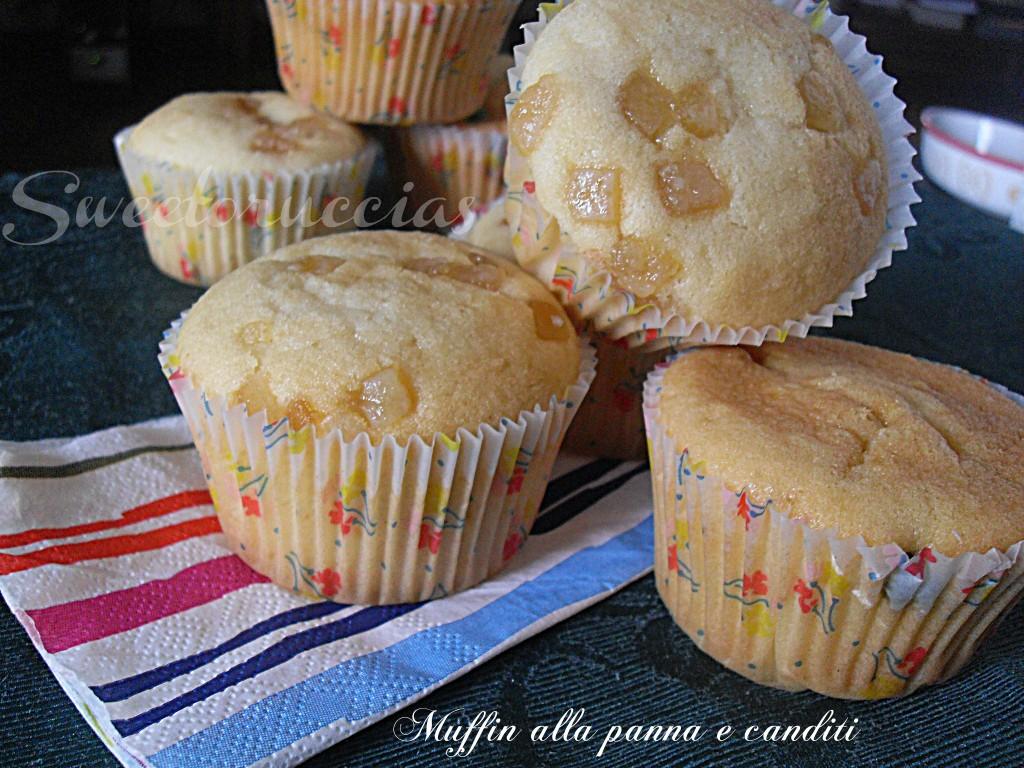 Muffin alla panna e canditi