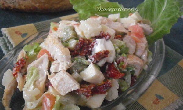 Insalata di pollo grigliato ricetta saporita