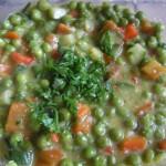 Tortini al forno con piselli peperoni e zucchine