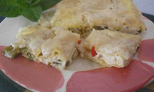 Cannelloni di ricotta con zucchine e peperoni