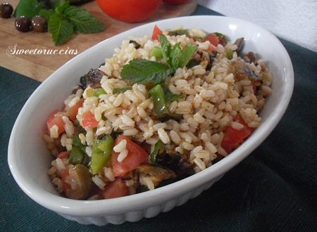 Insalata di riso integrale ricetta vegana