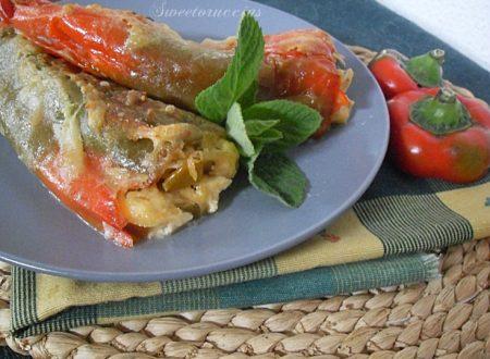 Peperoni ripieni di ricotta al forno