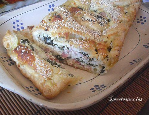 Strudel con ricotta spinaci freschi e speck