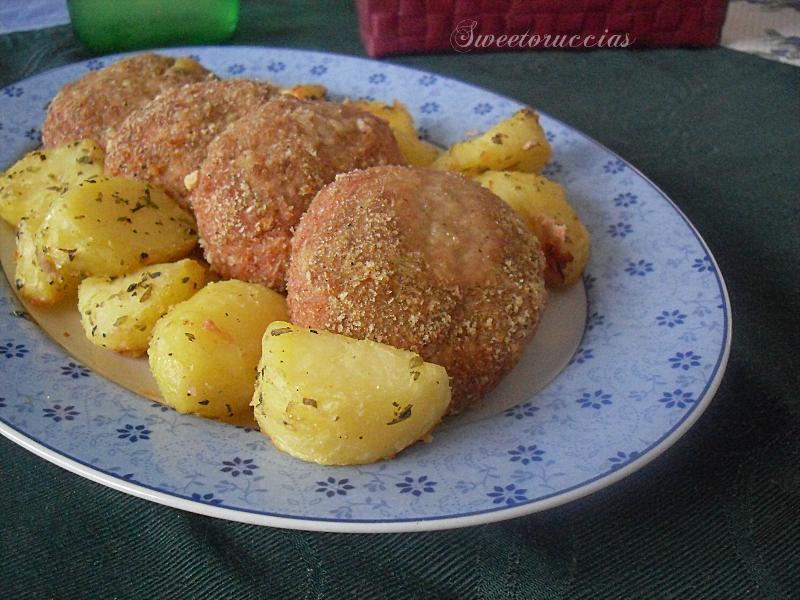 Hamburger di patate e carne