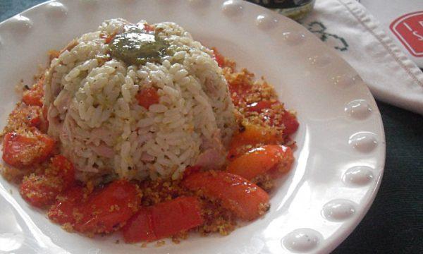 Fantasia di riso al pesto di pistacchio
