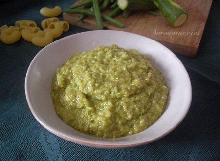 Pesto di zucchine e fagiolino