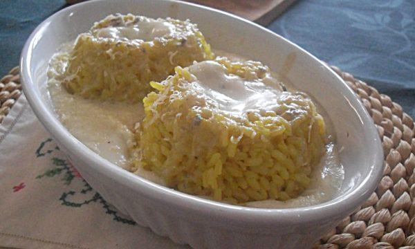 Tortini di riso gratinati al formaggio