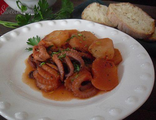 Ricetta polpetti e patate in umido
