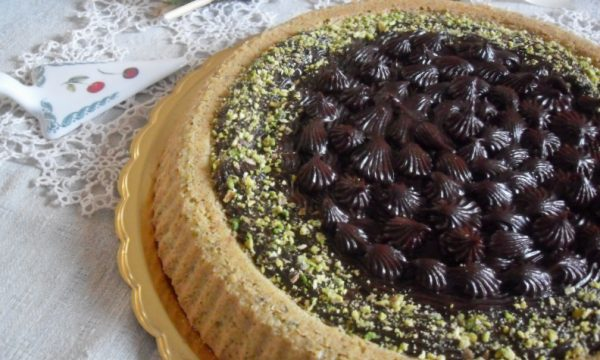 Crostata morbida alla crema di marroni e cioccolato