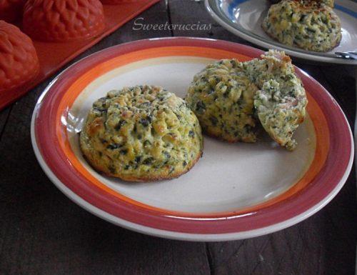 Sformatini di ricotta e spinaci con prosciutto