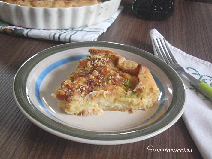 Torta rustica di patate e zucchine
