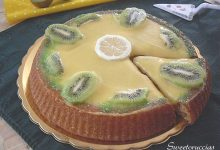 Crostata morbida con lemon curd e kiwi