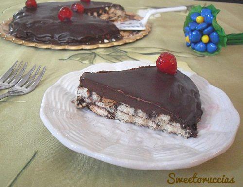 Torta di biscotti al cioccolato