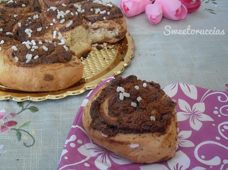 Torta di rose con nutella e pan di stelle