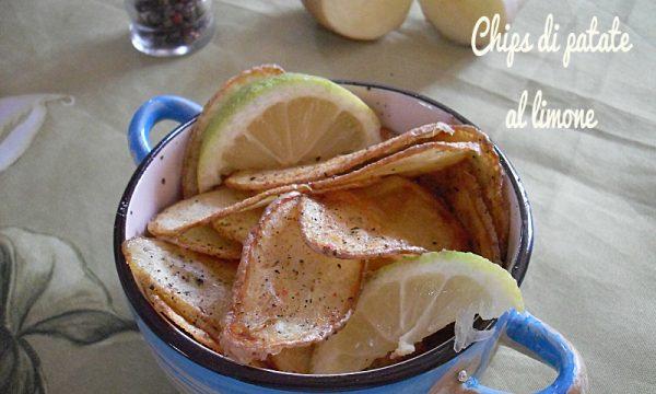 Chips di patate fritte al limone e pepe nero