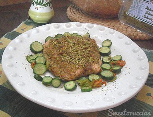 Salmone fresco al pistacchio ricetta veloce
