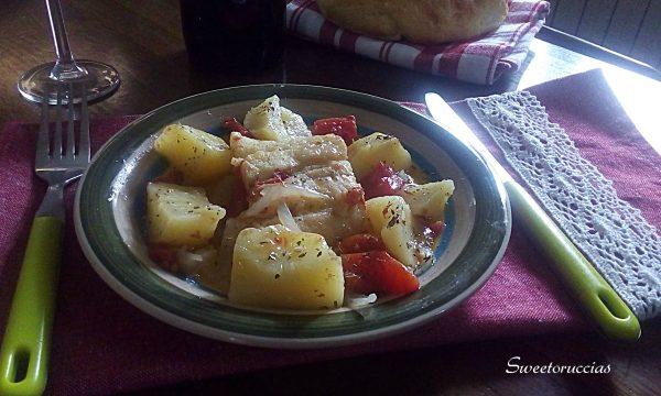 Baccalà in umido con le patate
