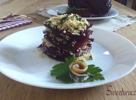 Millefoglie di barbabietola con acciuga ricetta antipasto