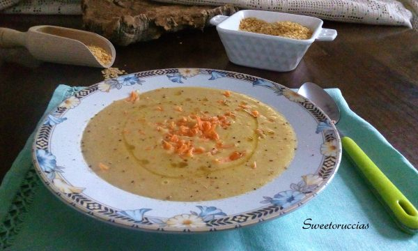 Crema di lenticchie gialle e carote ricetta comfort food
