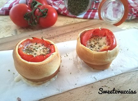 Pomodori farciti alla pizza in crosta
