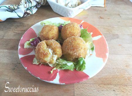 Polpette di patate al forno farcite al gorgonzola