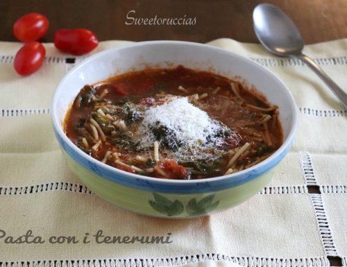 Pasta con i tenerumi ricetta siciliana della tradizione