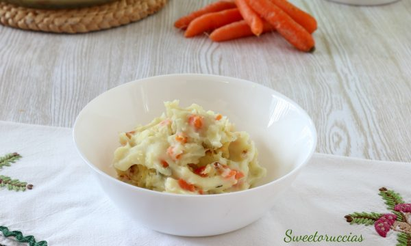 Purè di patate con carote ricetta facile