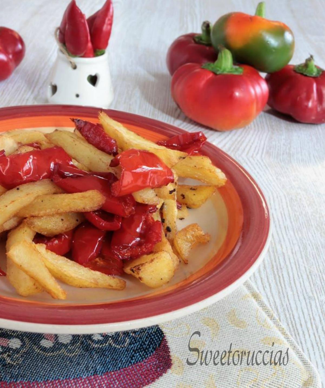 Patate e peperoni ricetta piccante calabrese