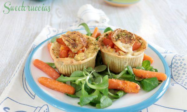 Cestini con riso alle carote ricetta antipasto