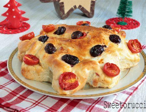 Stella salata e farcita ricetta di Natale