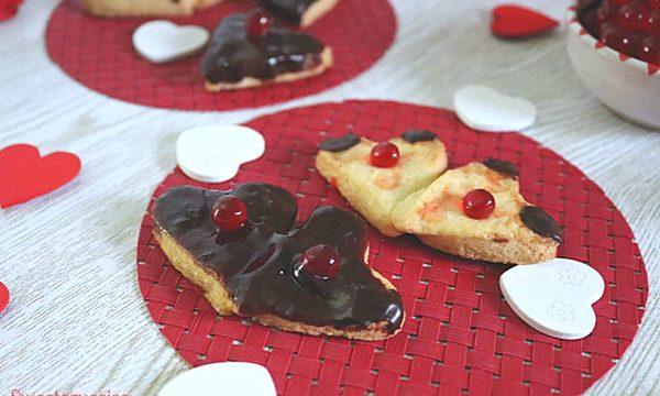 Biscotti di frolla glassati ricetta per San Valentino