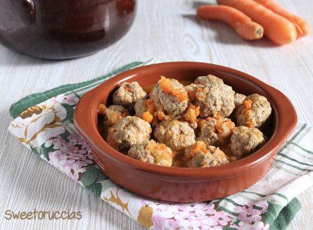 Polpettine di carne con  carote ricetta light