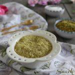 Zucchero a velo al pistacchio per guarnire biscotti e torte