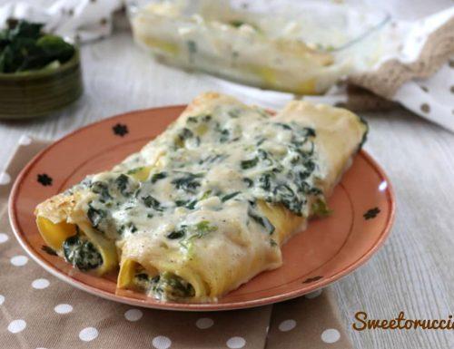 Cannelloni di pasta fresca con ricotta e spinaci