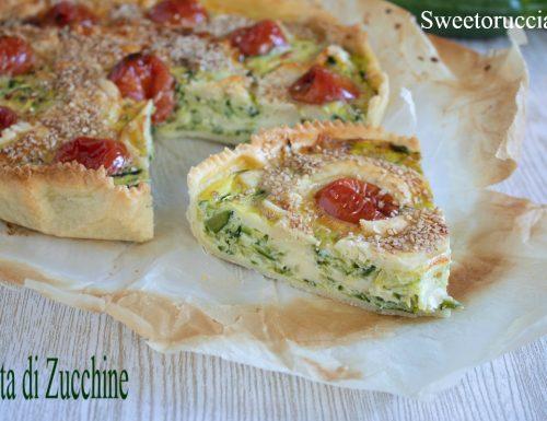 Torta di zucchine e pomodoro ciliegino