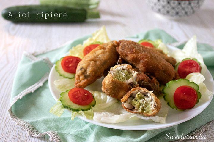 Alici ripiene di zucchine ricetta saporita