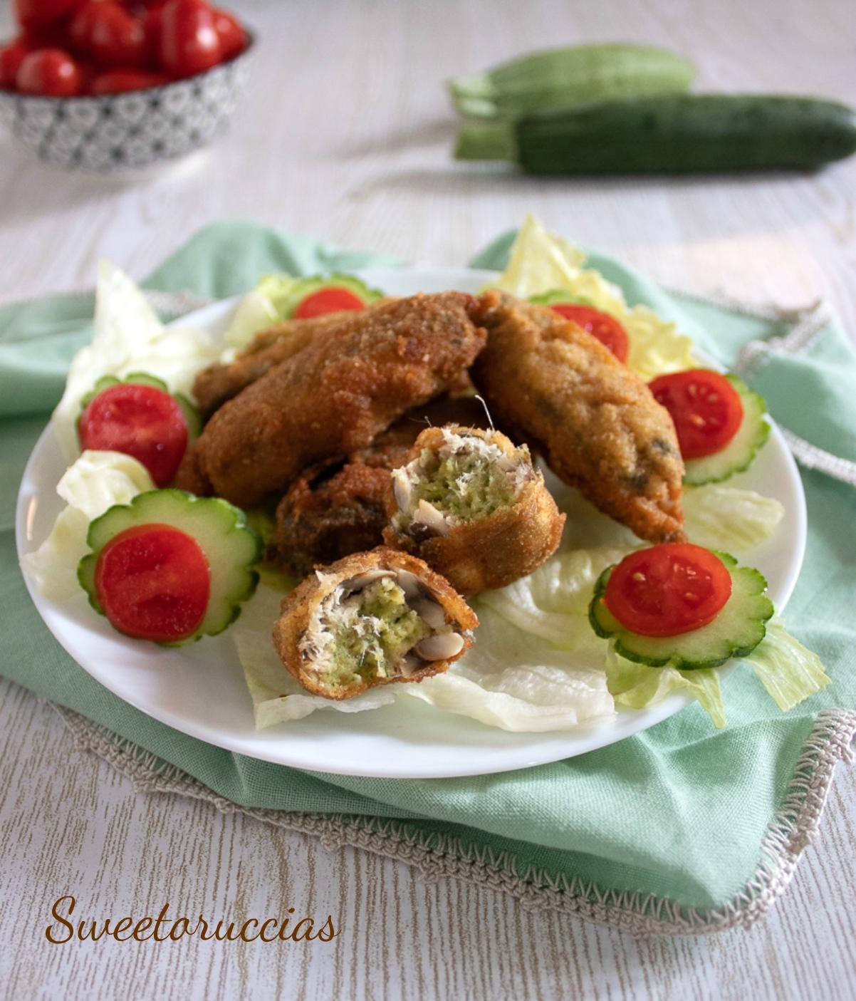 Alici ripiene di zucchine e merluzzo ricetta saporita