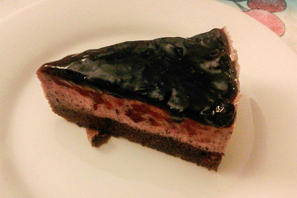 Bavarese mirtilli e cioccolato