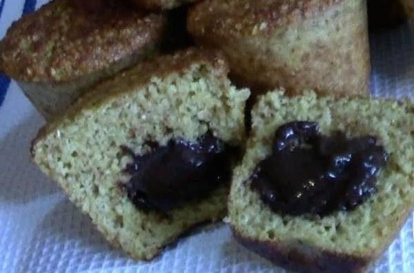 Muffin alla nocciola con cuore di dutella
