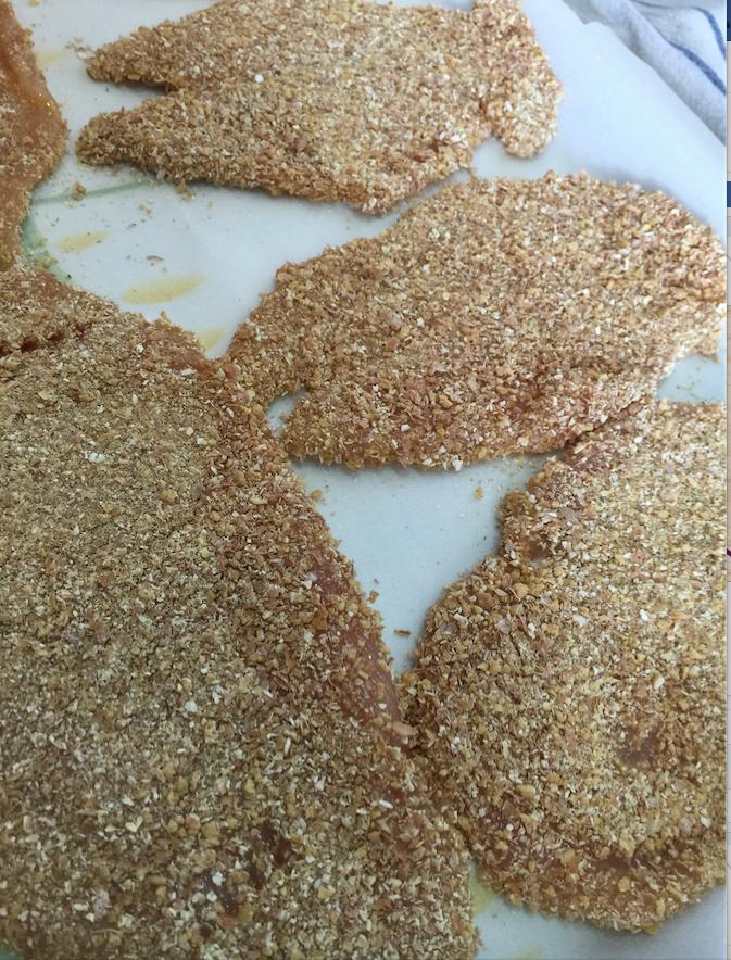 Petti di pollo impanati - Ricetta dieta Dukan