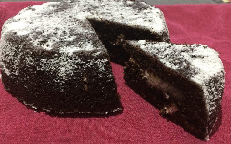 Torta integrale cacao e cocco al microonde