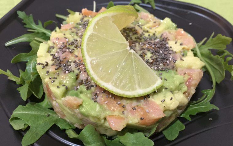Tartare di salmone, avocado e lime