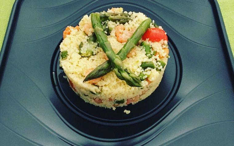 Cous Cous con asparagi e gamberetti