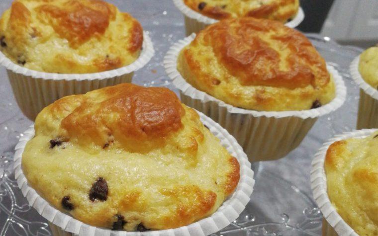Muffin soffici senza glutine con gocce di cioccolato *Dukan