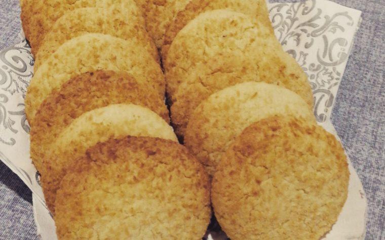 Biscotti light al cocco e yogurt
