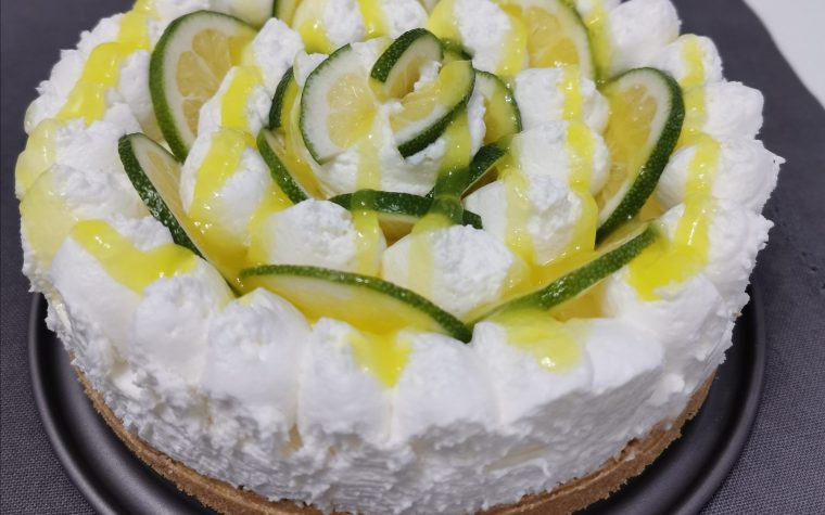 Cheesecake fredda al lime semi-light