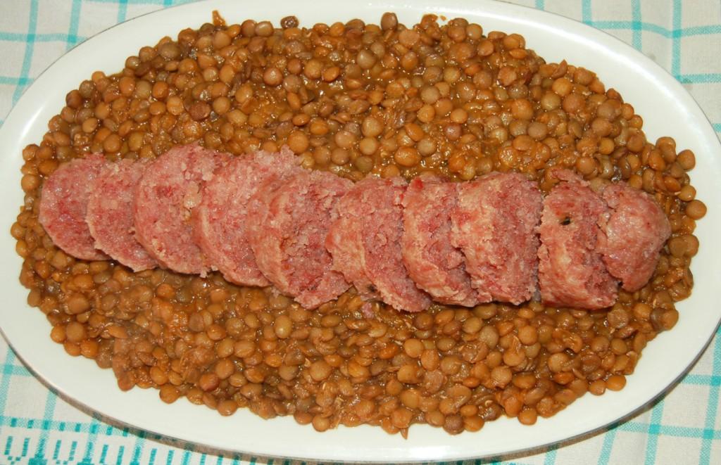 Cotechino fresco con lenticchie