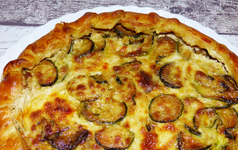 Pasta sfoglia con zucchine e besciamella